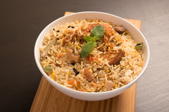 Yummy delicious chicken biryani Royalty Free Stock Photos