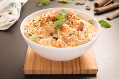 Yummy delicious chicken biryani Stock Photography