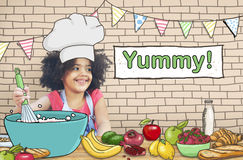 Yummy Delicious Cooking Little Kid Chef Concept Royalty Free Stock Images