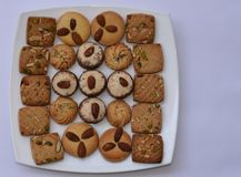 Yummy Delicious freshly made cookies, perfect snacks for a good tea break Stock Photo