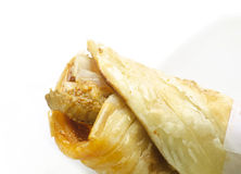 Yummy delicious mouthwatering chicken roll Royalty Free Stock Image