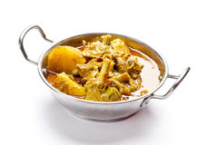 Yummy delicious mouthwatering mutton curry Royalty Free Stock Photos