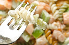 Yummy delicious mouthwatering  pasta salad Stock Images