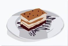 Yummy slice of caramel cake background royalty free illustration