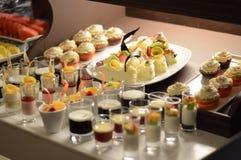 Yummy Desserts voor na diner royalty-vrije stock afbeelding