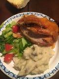 Yummy diner van het varkensvleeshaasbiefstuk Stock Foto