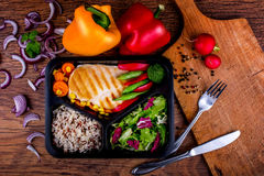 Yummy dinner. You must try it Royalty Free Stock Images