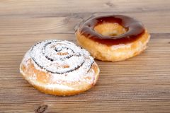 Yummy Donuts на белизне Стоковое Фото