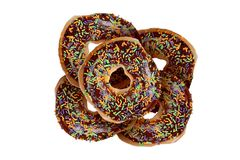 Yummy Donuts на белизне Стоковое Изображение