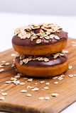 Yummy donuts Stock Images