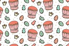 Easter cakes seamless pattern royalty free illustration