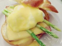 Yummy Egg Benedict Royalty Free Stock Photography