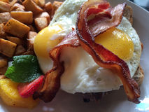 Yummy Eggs and Bacon, Vancouver, British Columbia, Canada Stock Photo