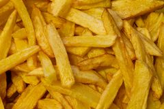 Yummy french fries as background stock photo