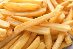 Yummy french fries, closeup Royalty Free Stock Photos