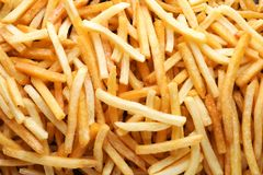 Yummy french fries. As background Stock Photos