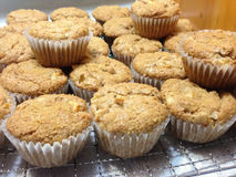 Yummy Fresh Baked Healthy Apple Muffins Stock Photos