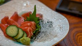 Yummy Fresh Salmon And Vermicelli stock photography