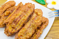 Yummy fried banana Royalty Free Stock Images