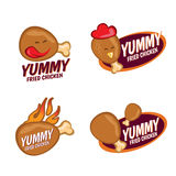 Yummy Fried chicken logo vector set design Royalty Free Stock Photography