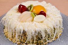 Yummy fruit cake Stock Photo