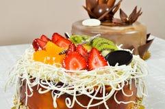 Yummy fruit cake Royalty Free Stock Image