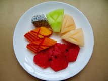 Yummy fruit. Y, appetizer after meal Royalty Free Stock Photos