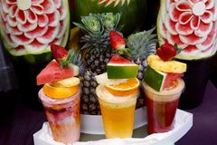 Yummy fruitcocktails Royalty-vrije Stock Afbeelding