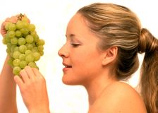 Yummy grapes Royalty Free Stock Images