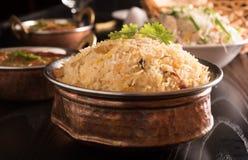 Yummy heerlijke biryani stock afbeeldingen