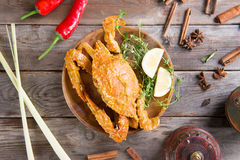 Yummy hot and spicy chili crab Royalty Free Stock Image