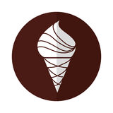 Yummy ice cream cone. Vector illustration graphic design Royalty Free Stock Image
