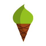 Yummy ice cream cone. Vector illustration graphic design Stock Images