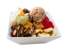Yummy Ice Cream Sundaes Royalty Free Stock Photos