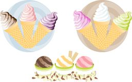 Yummy ice-creams. A wide range of different flavours of ice-creams Royalty Free Stock Images