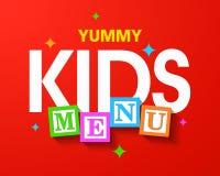Yummy Kids Menu Royalty Free Stock Photo