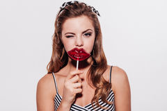 Yummy kiss. Stock Images