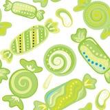 Yummy kleurrijk zoet het riet naadloos patroon van het lollysuikergoed Stock Afbeeldingen
