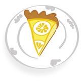 Yummy lemon cheese cake royalty free stock photos