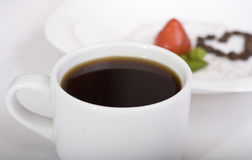Yummy!!! Morango e café Fotos de Stock