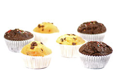 Yummy muffin. S over a white background Stock Photo