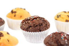 Yummy muffin. S over a white background Stock Photos