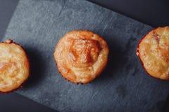 Yummy muffins op een rij royalty-vrije stock foto's