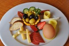 Yummy ontbijtplaat Royalty-vrije Stock Afbeelding