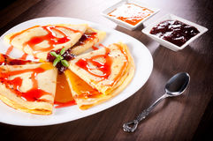 Yummy pancakes Royalty Free Stock Photos