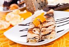Yummy Pfannkuchen stockbild
