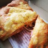 Yummy pizza Royalty-vrije Stock Afbeelding
