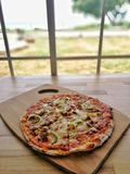 Yummy Pizza stockfoto