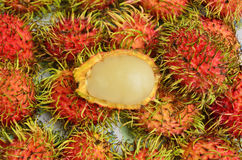 Yummy rambutan close up Royalty Free Stock Image