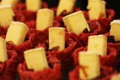 Yummy Słodki deser, Dubaj, UAE na 21 2017 Lipu Zdjęcie Royalty Free